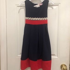 Navy blue and red dress Small 7/8